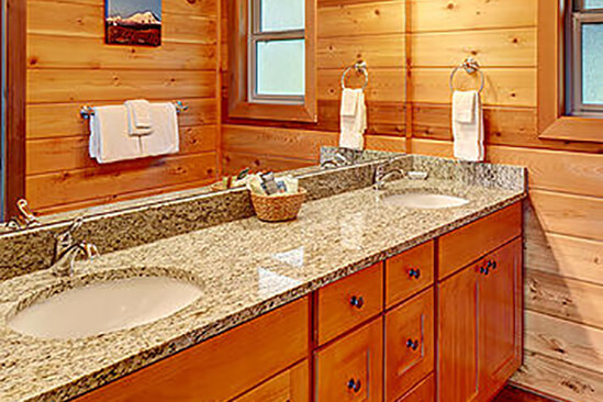 Two Bedroom Water View King Cabin Bathroom