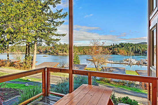 Two Bedroom Water View King Cabin Patio View