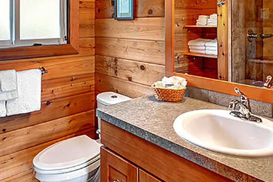 Two Bedroom Water View Cabin Bathroom