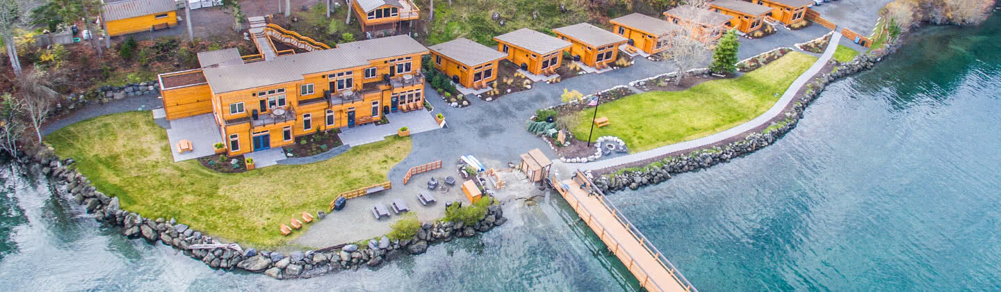 Snug Harbor Resort Arial Photo